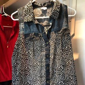Leopard blouse tank